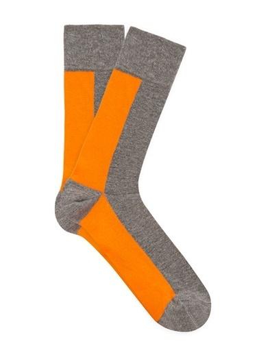 Mavi Erkek  Baskılı Soket Çorap 092340-30831 Gri